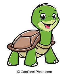 嬰孩, 海龜, 卡通