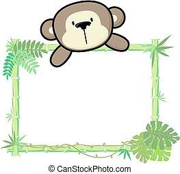 嬰孩, 竹子, 猴子, 框架