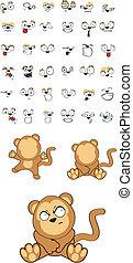 嬰孩, set5, 猴子, 卡通