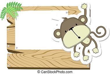 嬰孩, signboard, 猴子