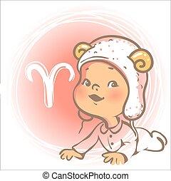 嬰孩, zodiac., 白羊星座