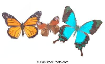 孔雀, 蝴蝶, swallowtail, 海, 帝王, 綠色
