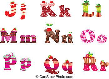 字母表, 信件, 甜