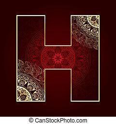 字母表, 植物, 打旋, 信, 葡萄酒, h