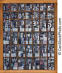 字母表, letterpress
