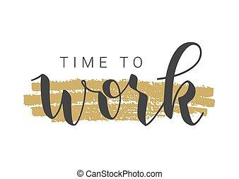 字母, 矢量, work., 手寫, illustration., 時間