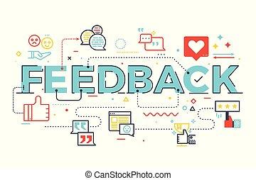 字母, 詞, 反饋, 插圖