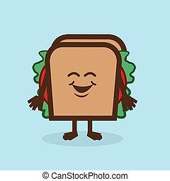字, 三明治