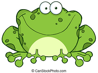 字, 卡通, 青蛙, 愉快
