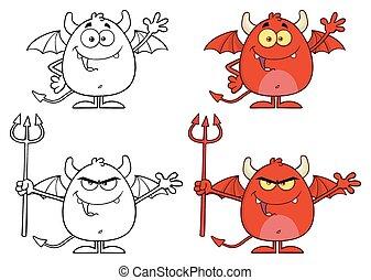 字, 憤怒, 魔鬼, 彙整