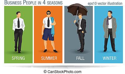 季節, 事務