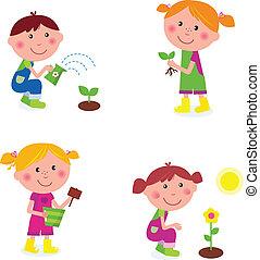 孩子, 園藝, 彙整