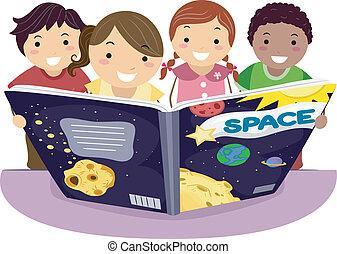 孩子, 學習, 天文學