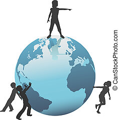 孩子, 移動, 未來, 地球, 世界, 之外