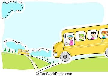 學校公共汽車, 方式