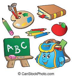 學校, 卡通畫, 彙整
