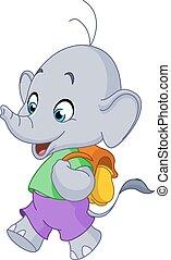 學校, 大象