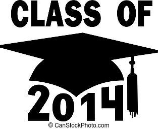 學校, 帽子, 畢業, 高, 學院, 2014, 類別