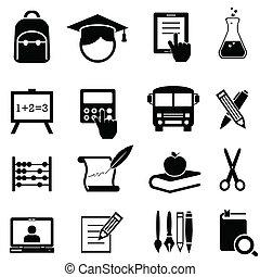 學校, 教育, 學習, 圖象