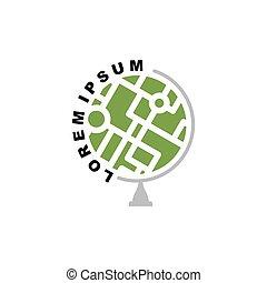 學校, globe., 摘要, agency., 地球, 地圖集, 標識語, logo., 全球, 旅行