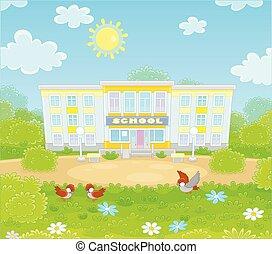 學校, schoolyard