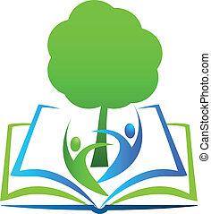 學生, 標識語, 書, 樹