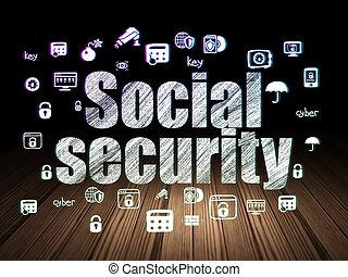 安全, 房間, concept:, 社會, 黑暗, 保護, grunge