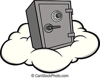 安全, 雲, 插圖