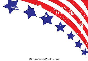 完全地, 插圖, 背景, 美國人, 矢量, editable, 旗