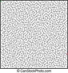 完美, eps, 插圖, 矢量, 8, maze.