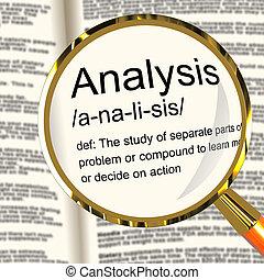 定義, 研究, 檢查, 顯示, 分析, 探查, 放大器, 或者