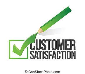 客戶滿意度, checkmark, 鉛筆