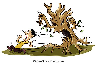 害怕, 樹, 怪物, 人
