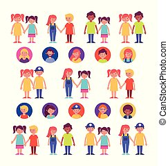 家庭 小組, 成員, 字符