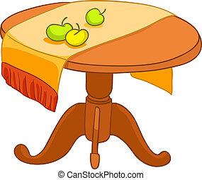 家, 家具, 卡通, 桌子