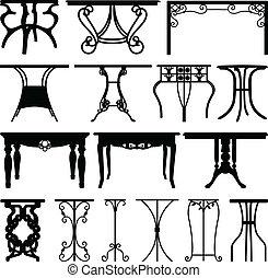 家, 書桌, 家具, 設計, 桌子