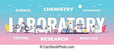 實驗室, 科學, 作品, 研究