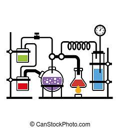 實驗室, infographic, 化學
