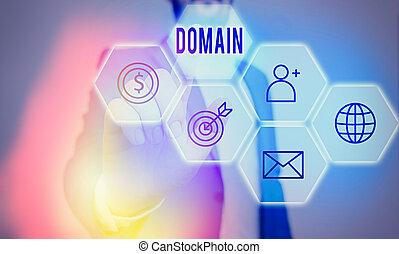 寫, government., 正文, 意思, 區域, 控制, 特殊, 概念, 書法, 地域, 統治者, domain., 或者