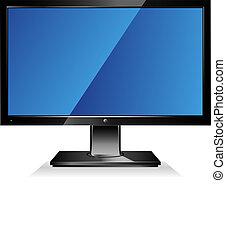 寬闊的螢幕, 電腦監視器, 套間