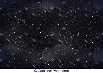 寬, 星, 空間, 簽, 背景, 深, galacticas, 白色, 卡通