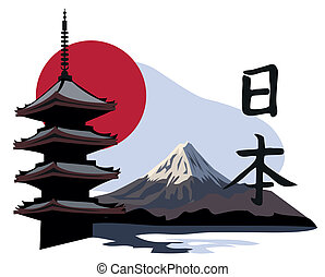 寺廟, 塔, 富士