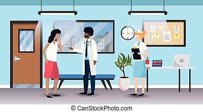 專業人員, 人, 病人, 診斷, 醫生
