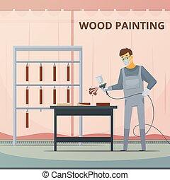 專業人員, 木製品, 畫, 海報, 套間