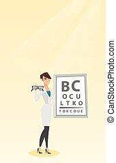 專業人員, 藏品, eyeglasses., ophthalmologist