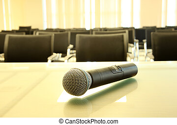 專業人員, 話筒, room., 空, 會議