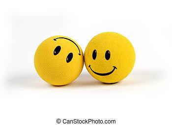 對象, -, 黃色, 笑臉符表面