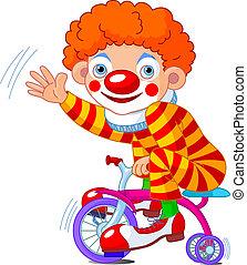 小丑, 自行車, three-wheeled