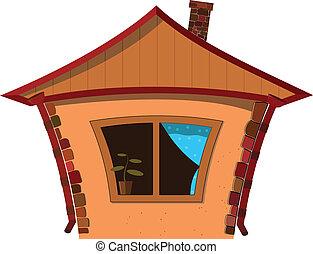 小的房子, 矢量, 插圖