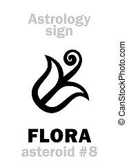 小行星, astrology:, 植物群